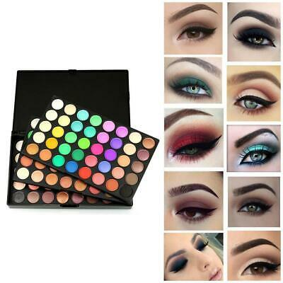 120 Colors Pro Shimmer Matte Eyeshadow Palette Powder Eye Shadow Makeup Kit Set