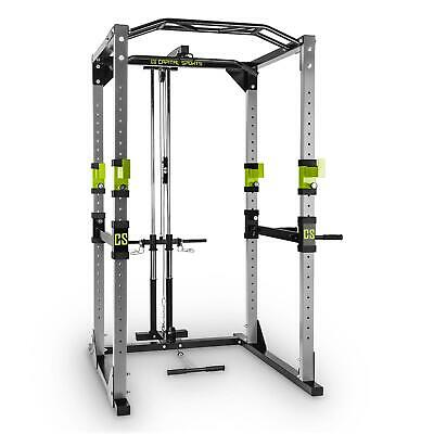 Power Rack Barre Traction Appareil Musculation Station Multifonction Gym Gris
