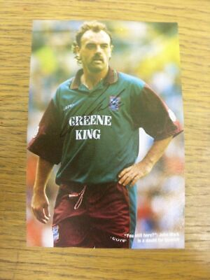 1991-1997 Autograph: Ipswich Town - John Wark [Approx 4x5 Inch Colour Hand Signe