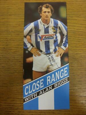 1990-1994 Autograph: Sheffield Wednesday - Trevor Francis [Approx 4x9 Inch Colou