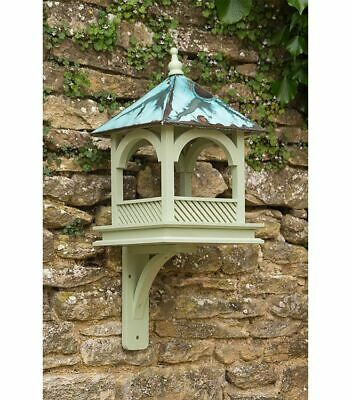 Bird Table - Large Olive Green with Copper Roof - Bempton Design Wildlife World