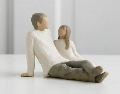 Willow Tree Father & Daughter Resin Figurine Family Keepsake Ornament Gift Box