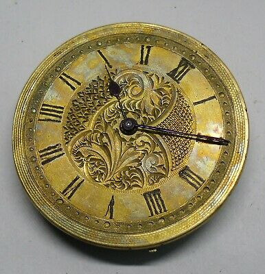 Pocket Watch Movement Working with Gilded Dial 34 mm Ø Funciona Esfera Dorada #B