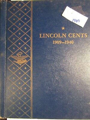 1909-1940 Lincoln Cent Collection (71 Coins) In Whitman Album (Lot 1642)