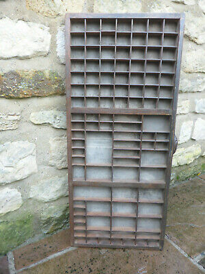 Original  Printer's Tray Hardwood & Ply . Different Size Sections. Vintage