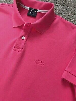 Gorgeous Hugo Boss Pima Cotton Pink Polo Shirt L Large