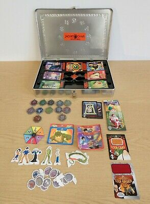 Jackie Chan Adventures Collectors Tin 100's of Cards 12 Talismans & Card Figures