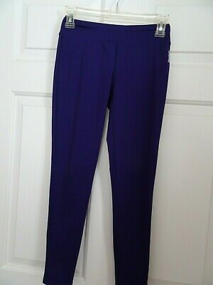 Girls Reebok Purple  Athletic Leggings Size Medium 10-12
