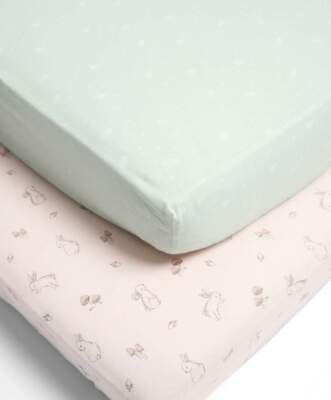 Mamas & Papas - 2 Pack Cot / Bed Fitted Sheets - Lilybelle