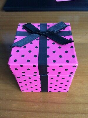 Small Spotty Pink And Black Gift Box