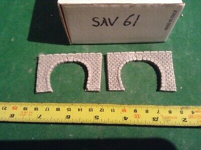 2 X Twin Track Z Scale Tunnel Portals, Painted , Pre Coloured, Mid Grey
