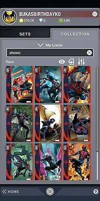 TOPPS MARVEL COLLECT DIGITAL Showcase Spider-man 2099 Complete Set of 10