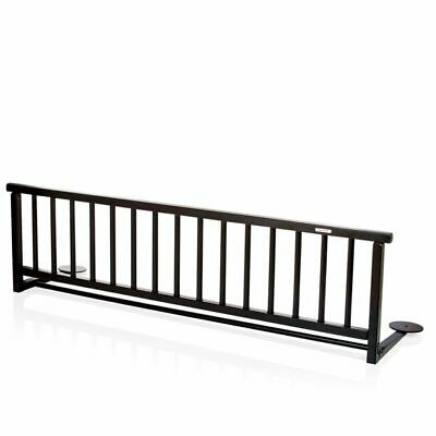 Baninni Bed Rail Rocco Black Wood Baby Toddler Cot Safety Guard BNBTA015-BK#