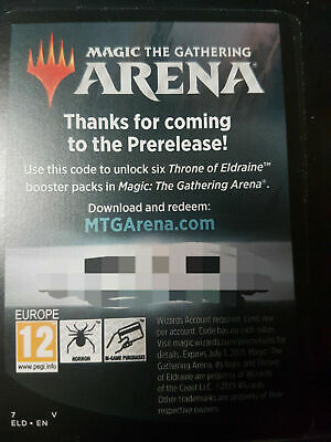 MTG Arena Code / 6 Throne of Eldraine Booster Packs / Magic the Gathering / f2p