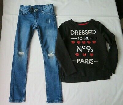 h&m & george girls outfit age 6-7 years