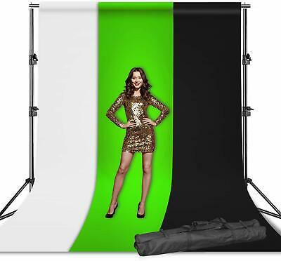 Studio Support Kit Set, White Black Green Backdrop Support Stand for Photography
