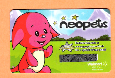 Collectible Walmart Gift Card - Neopets - No Cash Value - VL8378