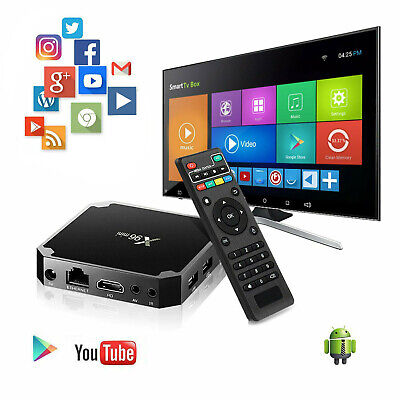 X96 Mini 4K Quad Core Android Smart TV Box WiFi Network HD Media Player with RC