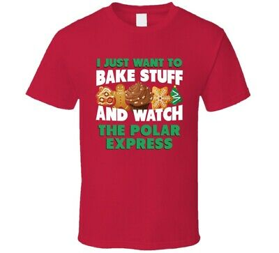 Bake And Watch The Polar Express Christmas Holiday Movie Fan T Shirt