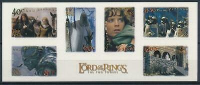 [H21073] New Zealand 2001 LORD OF RINGS Good complete ADH. Booklet very fine