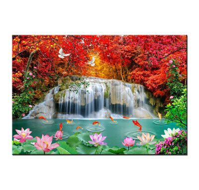 Waterfall Landscape Print Painting Canvas Home Déco Wall Art Picture Living Room