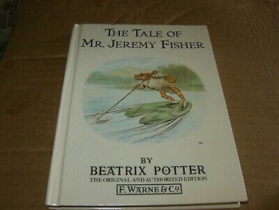 The Tale Of Mr. Jeremy Fisher by Beatrix Potter,HB Book#7 Good-Shape,1987.