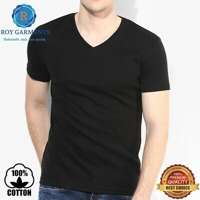 Men's  4-pack heavy weight 100% cotton V- Neck & Crew Neck Tagless T-shirt