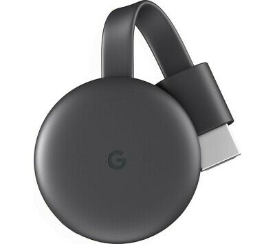 Google Chromecast 3rd Gneration Media Streamer - Charcoal