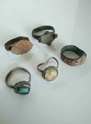 Vintage Jewelry From Medieval Byzantium And Rome Rings.