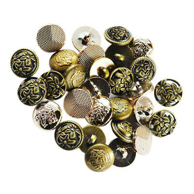 METAL ANTIQUE GOLD FINISH BASKET WEAVE SEWING SHIRT CRAFT BUTTONS 11mm 18L