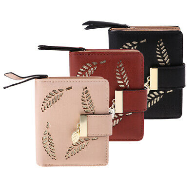 Women Coin Bag PU Leather Ladies Bifold Wallet Pocket Small Handbag Purse