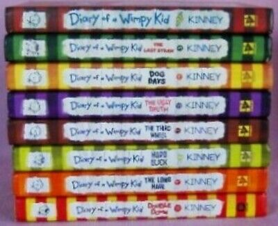 8 Hardbacks DIARY OF A WIMPY KID by Jeff Kinney