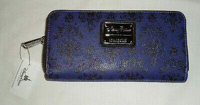 NEW Disney Parks Loungefly Haunted Mansion Wallpaper Purple Zip Wallet