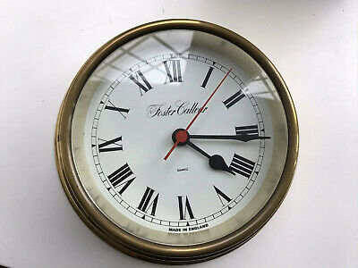 Foster Callear Brass Ships Clock Working