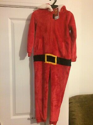 Marks & Spencers Santa Hooded Onesie Christmas Not Gerber Age 5 - 6 Years New