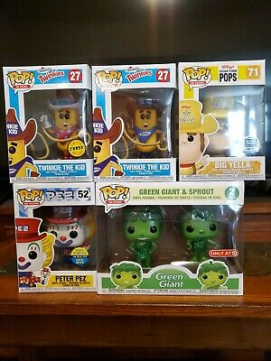 Funko POP Ad Icons Lot of 6 Metallic Sprout Big Yella Toy Tokyo Peter Pez Chase