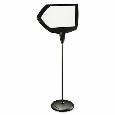 "MasterVision Arrow Silver Easy Clean Dry Erase Sign Stand 17""x25"" Black"
