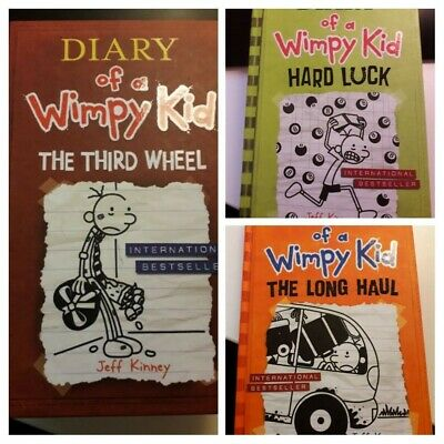 Diary of a Wimpy Kid Book Bundle: Third Wheel, Hard Luck, Long Haul