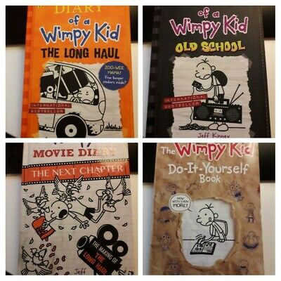 Diary of a Wimpy Kid Book Bundle: Long Haul, Old School, Movie Diary, DIY Book