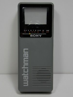 Sony Black And White Vintage Watchman TV FD-10A