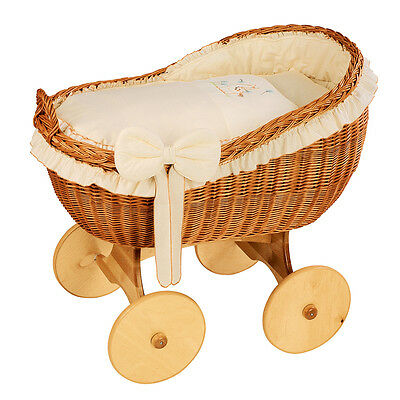 Wicker Crib Moses Basket Bianca Uno Beige (Cot Bed)  MJMARK