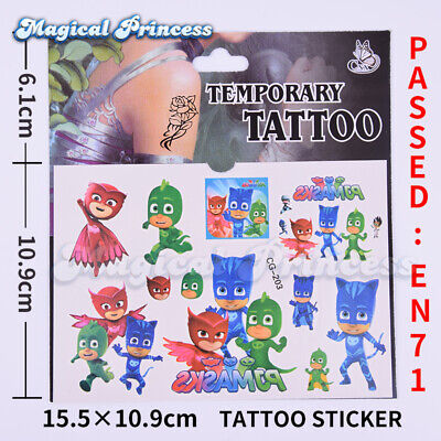 10 PJ Mask Tattoo Temporary Individual Party Bag filler girls boys