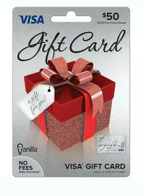 Vanilla Gift Card $50 Ready For Use No Fees After Purchase