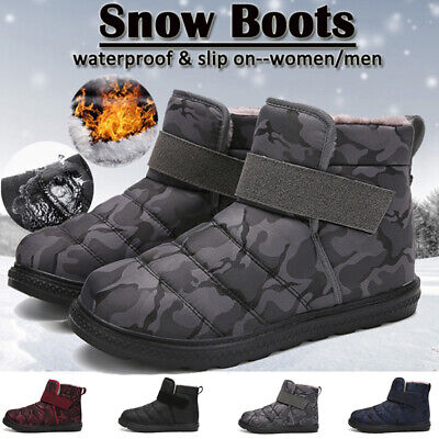 Mens Snow Boots Waterproof Non-slip Outdoor Shoes Winter Cotton  Warm Shoes