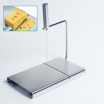 Stainless Steel Cutting Chopping Board Cheese Butter Slicer Cutter Kitchen Set