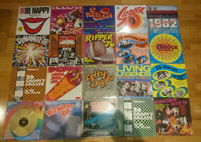 COLLECTION OF 20 ROCK COMPILATION RECORD ALBUMS - VINYL BULK MUSIC LPs