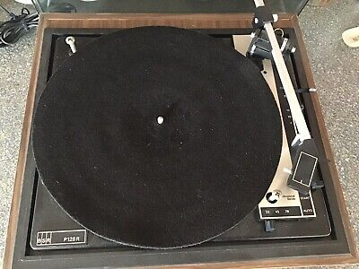BSR P128R Vintage 1960s Turntable Professional Series Record Player Vinyl Retro