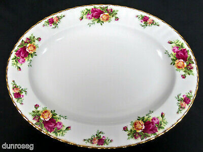 """OLD COUNTRY ROSES 34.5cm, 13.5"""" OVAL PLATTER, 1st QLTY, VGC 1993-02 ROYAL ALBERT"""