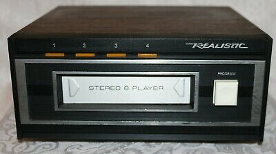 Vintage Realistic Stereo 8 Track Tape Deck Player 14-935 TR-169