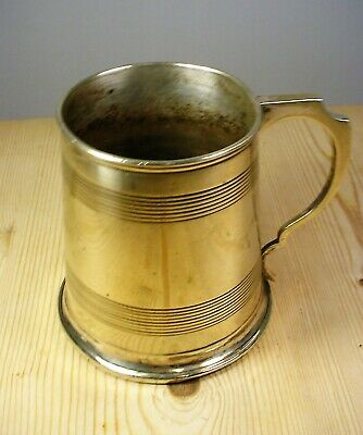 Antique Victorian Silver Plate 1 Pint Tankard
